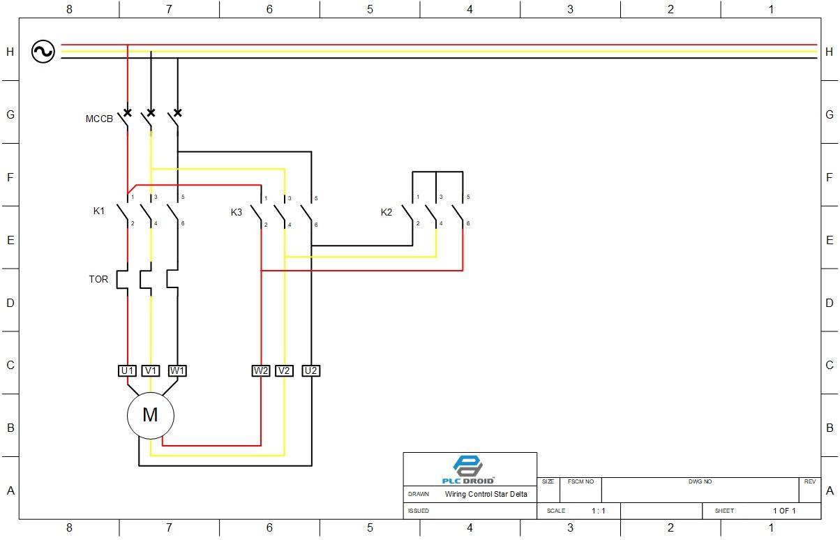 Gambar Rangkaian Star Delta Motor 3 Phase