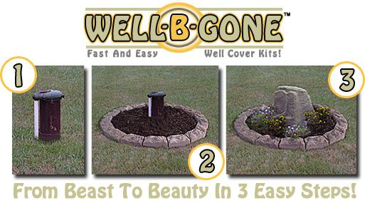 Fast Easy Fake Rock Well Pump Covers Water
