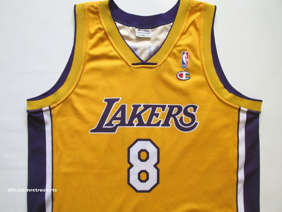 575759726026 NBA Los-Angeles Lakers basketball jersey Kobe Bryant by Champion USA basket   8  USA  NBA  forsale  basketball  Oneal  Kobe