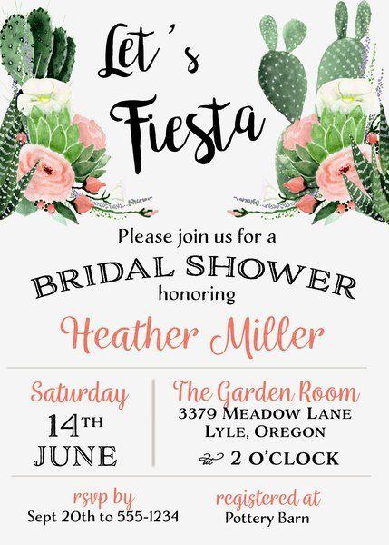 Fiesta Bridal Shower Invitation Bridal showers Shower invitations