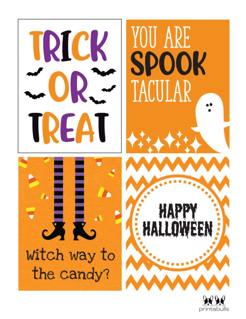 Spooktacular Printable Cards Free Printable Halloween Cards Halloween Sayings For Cards Happy Halloween Cards