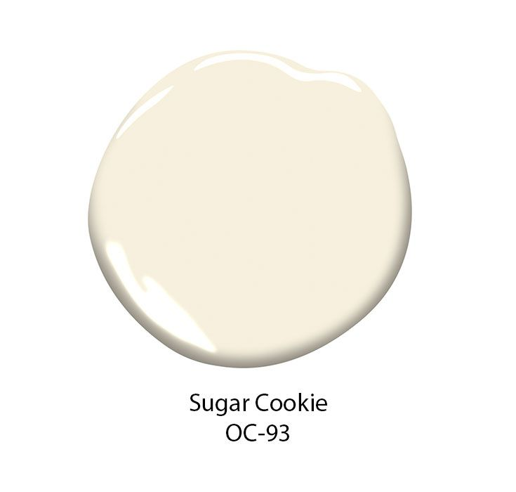 Benjamin Moore S Sugar Cookie Oc 93 Paint Color Is A Creamy Off White With The Toasty Warmth Of Freshly Baked Cookies This Pale Slightly Yellow