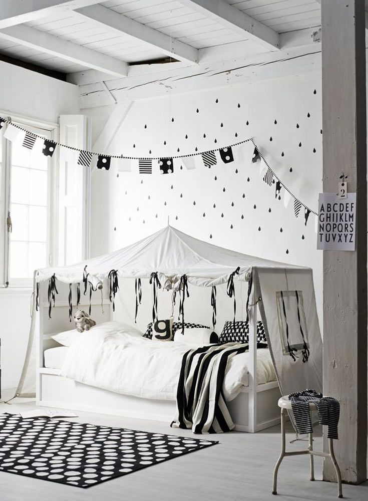 Monochrome Kids Room Get The Look The Only Girl In The House Monochrome Kids Bedroom Monochrome Kids Room White Kids Room