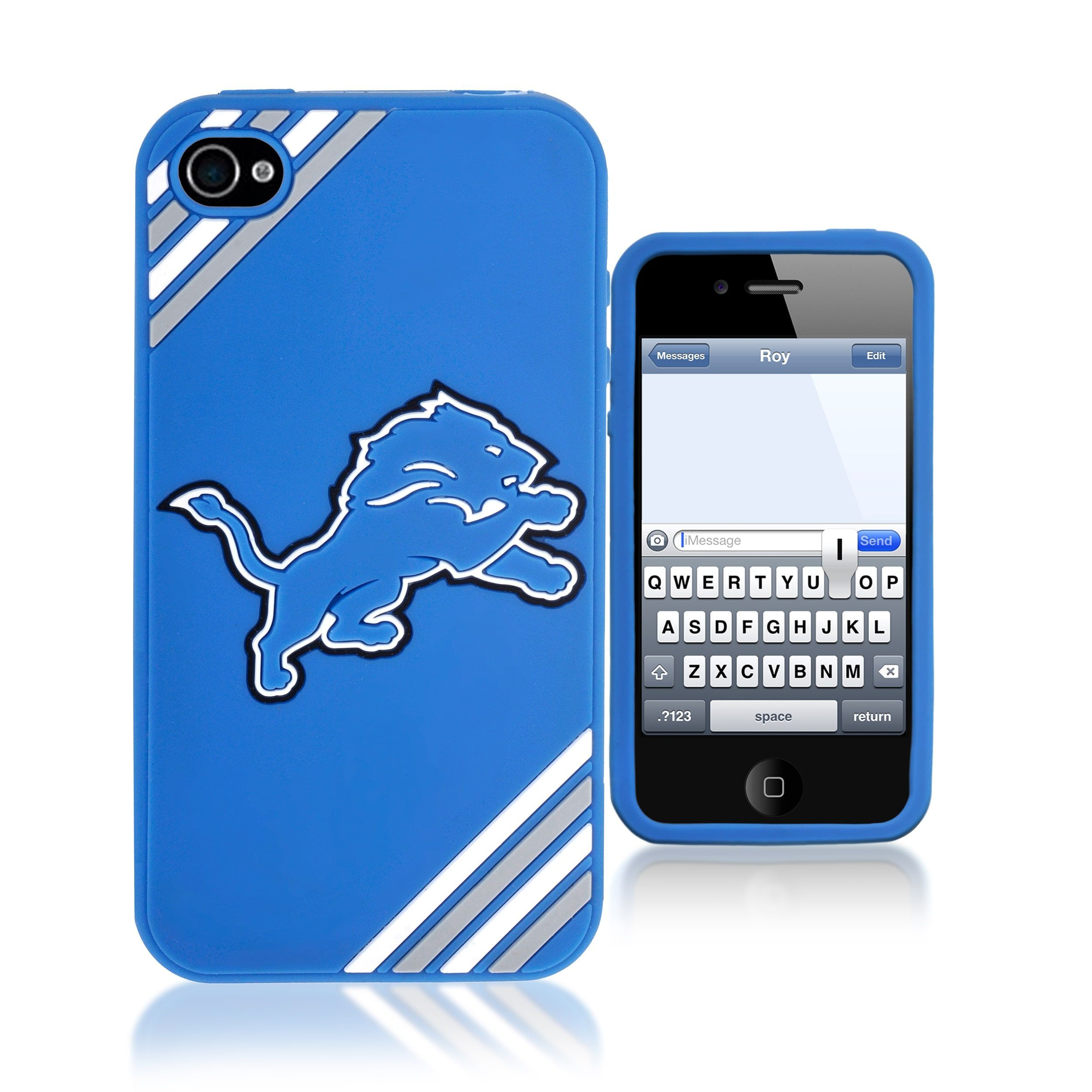Refurbished Forever Collectibles NFL Detroit Lions iPhone 4/4S Silicone  Phone Case