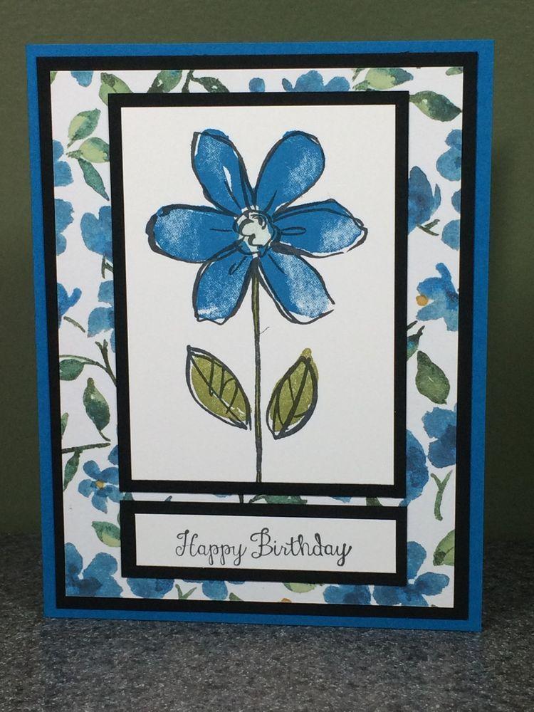 Stampin Up Handmade Birthday Card Combined Shipping #Handmade #Birthday