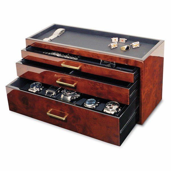Fancy Men S Storage Watch Box Rangement Montre Rangement Bijoux Boite A Bijoux En Bois