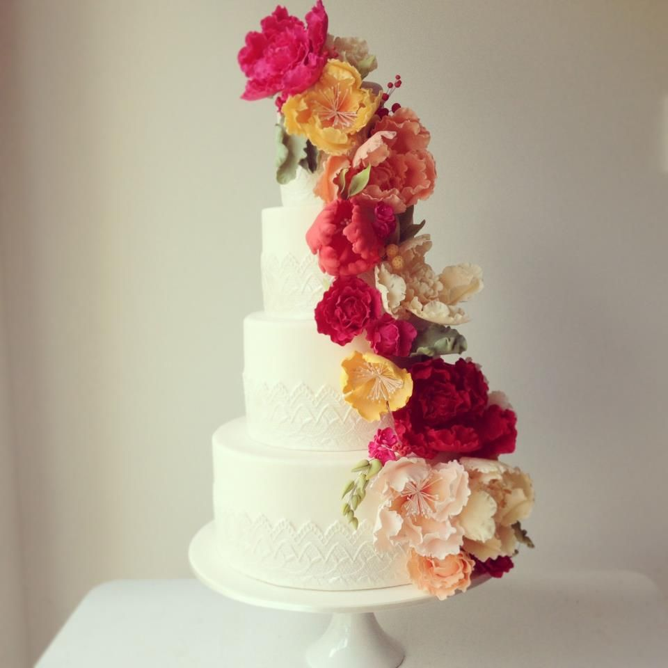 This was the wedding cake of the beautiful lady who is making our cake! Could she be any more amazing?!