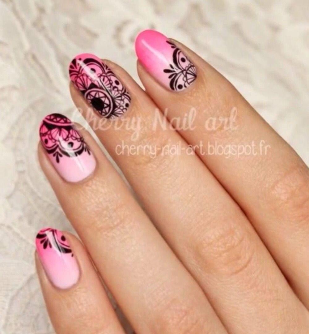Mandala nail art | Nails | Pinterest | Nagelschere, Nageldesign und ...