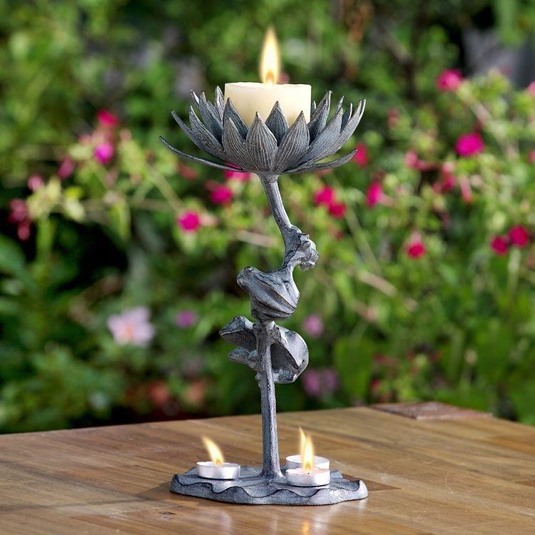flower birthday candle holder