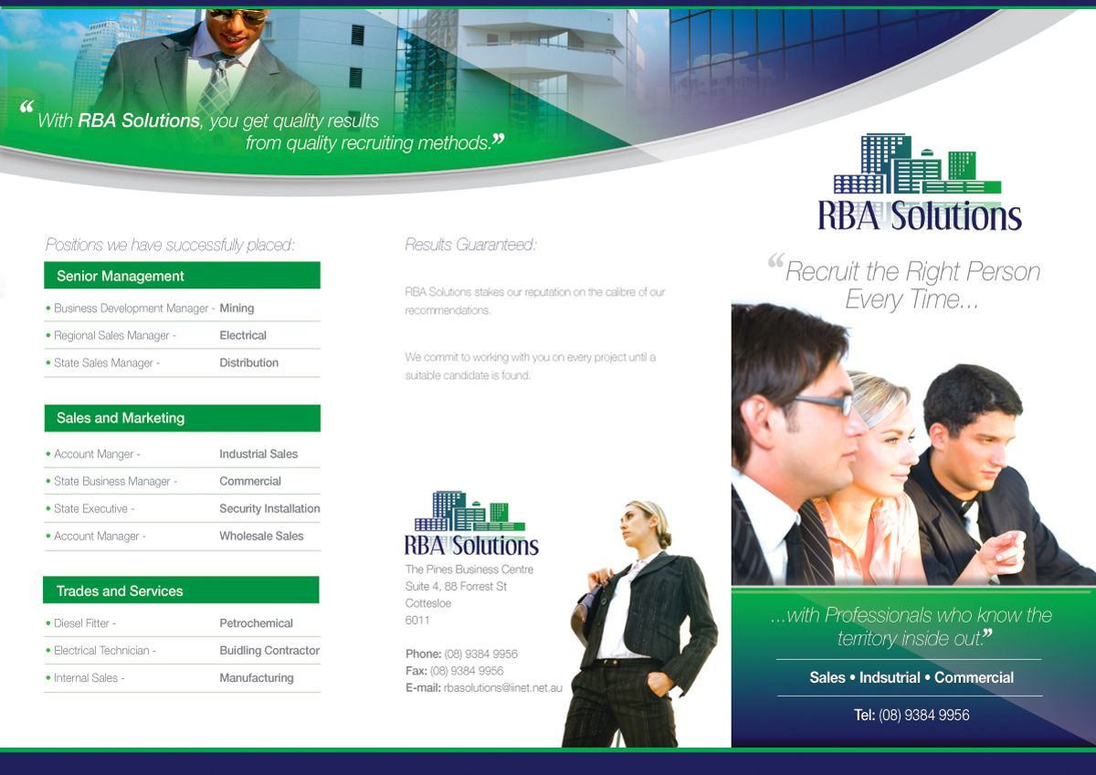 Cool Executive Search Firms Job Consultants Headhunter Brochure - Recruiting brochure template