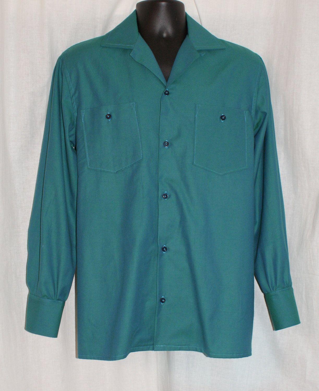 Vintage 1950s inspired repro mans short sleeve red and white Hawaiian shirt rockabilly VLV QVjaGa