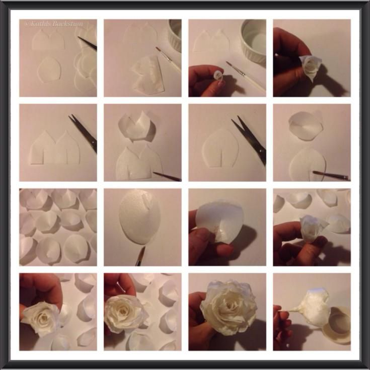 Wafer Paper Rose Tutorial Wafer Paper Cakes