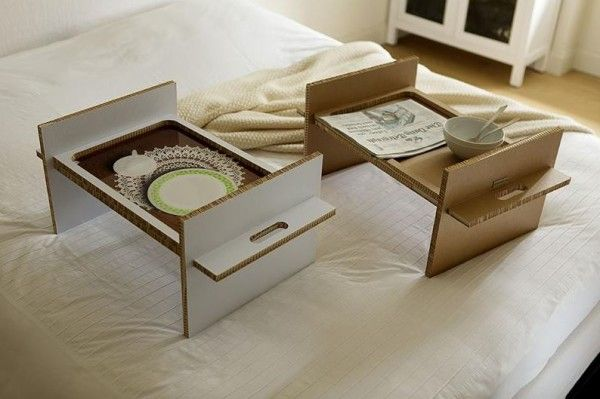 24 Diy Cardboard Projects Bed Tray Diy Diy Cardboard Cardboard Furniture