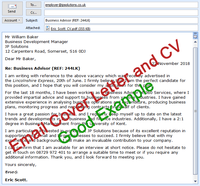 Email Cv Cover Letter Email Cover Letter Job Cover Letter Job Letter
