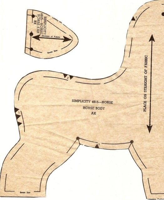 retro plush horse pattern1 #horsepattern