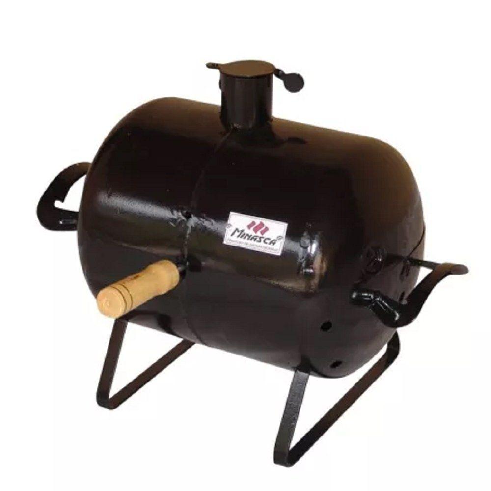 Mini Churrasqueira A Bafo Carvão Grill Para Mesa Churrasqueira Churrasqueira De Tambor Churrasqueira Carvão