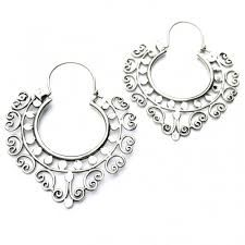 earrings siler yoga tribal - Google Search