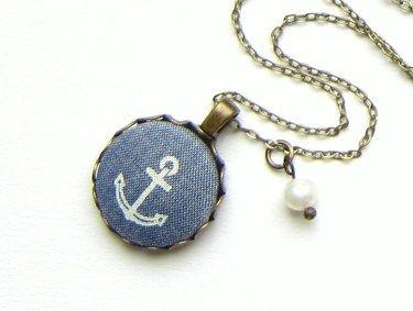 ANKER Kette  ⚓  maritim Stoff Anhänger Ahoi