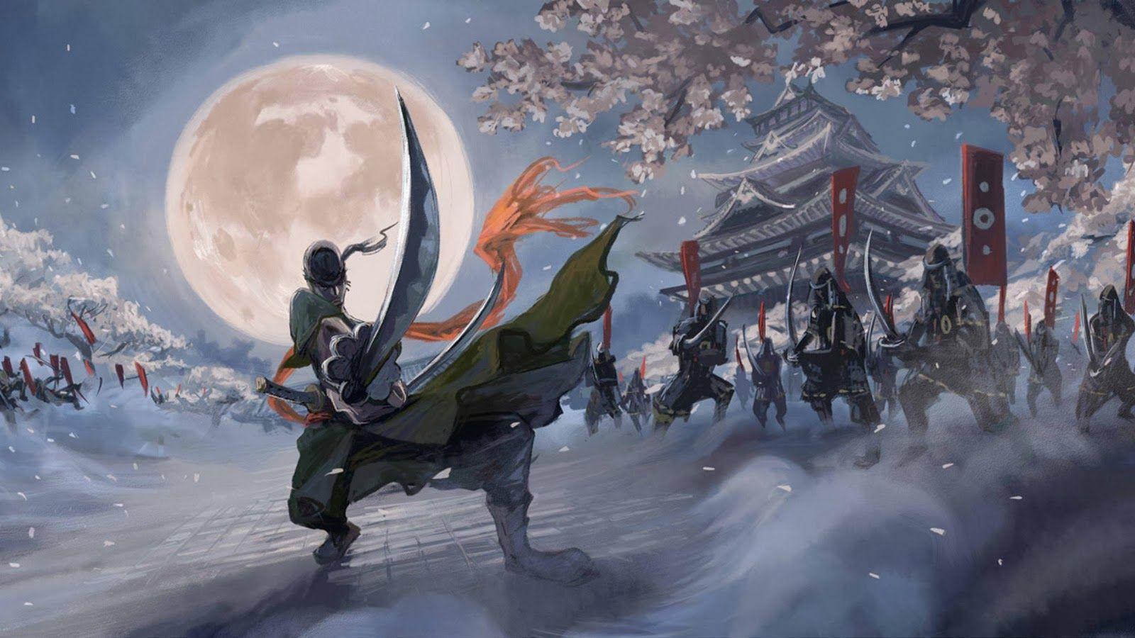 Imagen Relacionada Roronoa Zoro Gambar Awan Samurai