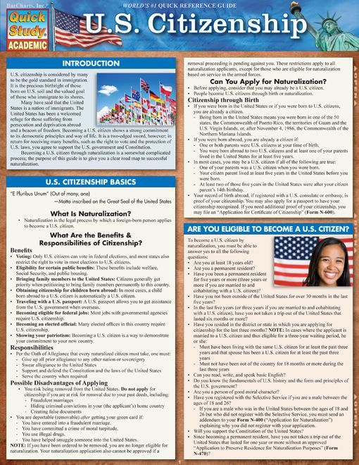 U.S. Citizenship Download this review guide and improve your grades. #education #ebooks #studyguides #science #math #school #college #teaching #teachers #classrooms #lessonplans #nursing #books #downloads #backtoschool