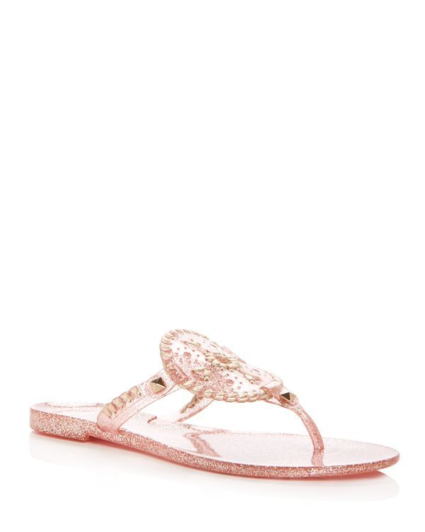 58e8aae81 Jack Rogers Sparkle Georgica Jelly Thong Sandals