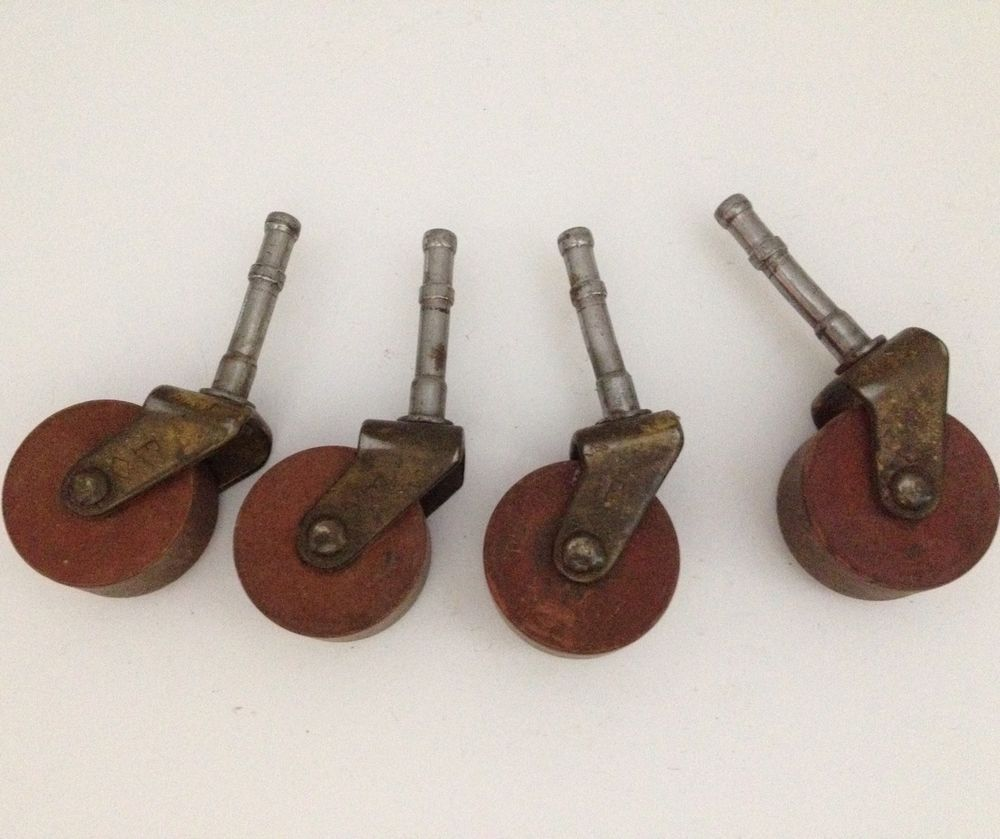 Caster Wheels Set Of 4 M B Schenck Stem Casters Diamond Velvet 1 1 2 Inch Wheel Stem Casters Casters Wheels Vintage Hardware