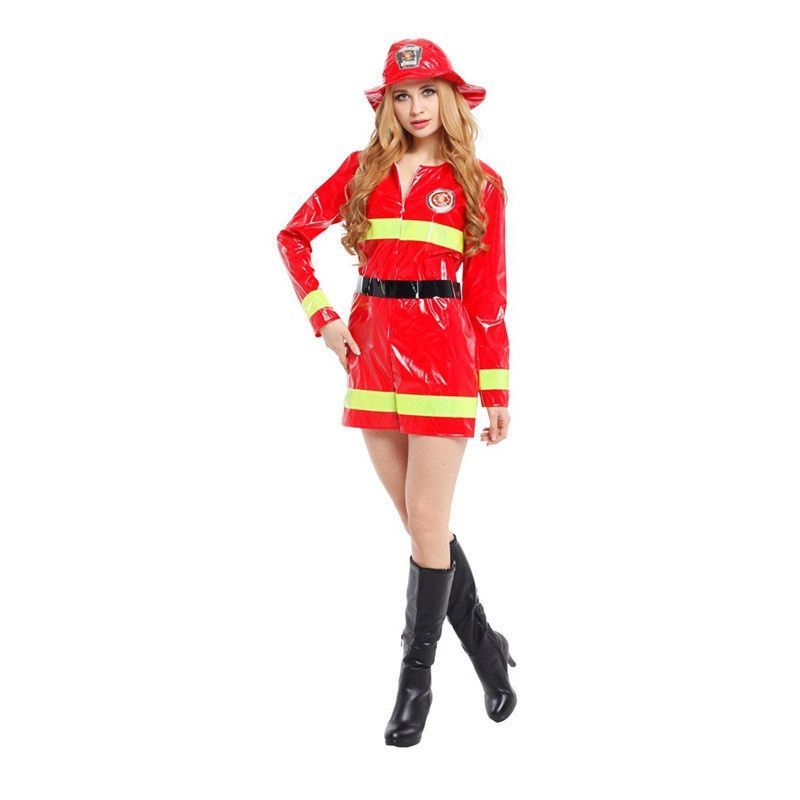 free shipping new high quality adult firemen cosplay costume for women halloween costume cosplay uniform