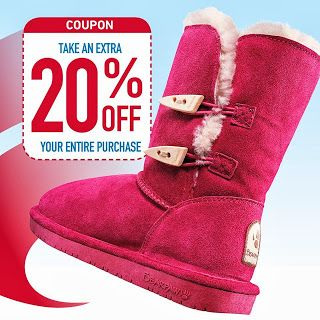 Famous Footwear 20 Off Printable Coupon Promo Code Stack W Bogo 1 2 Off Deal 11 28 12 1 Famous Footwear Printable Coupons Bearpaw Boots