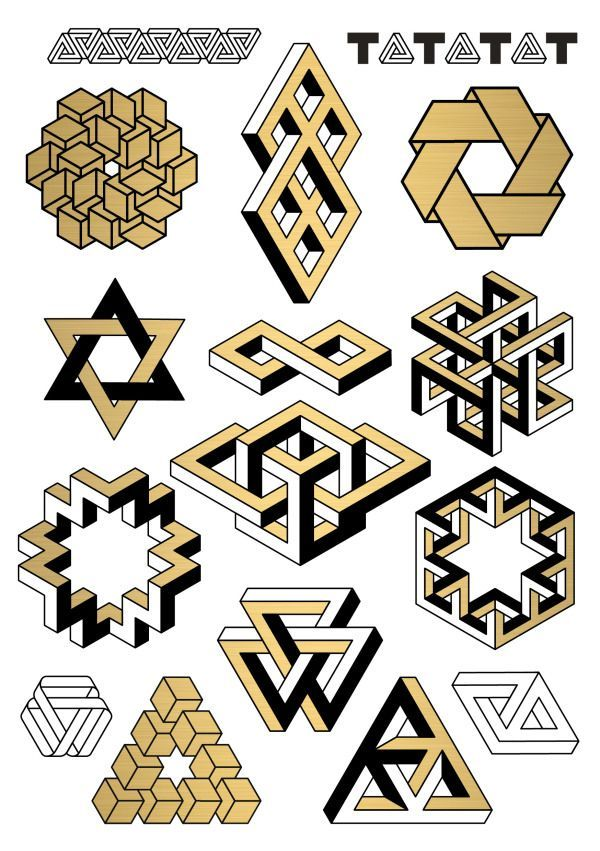 impossible geometry tattoos                                                                                                                                                                                 Mehr #impossible love art #002 Impossible Geometry by D. Bizer - tatatat.de