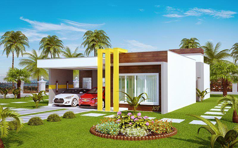 Projeto arquitet nico casa teresina c d 108 r 698 for Modelo de casa townhouse