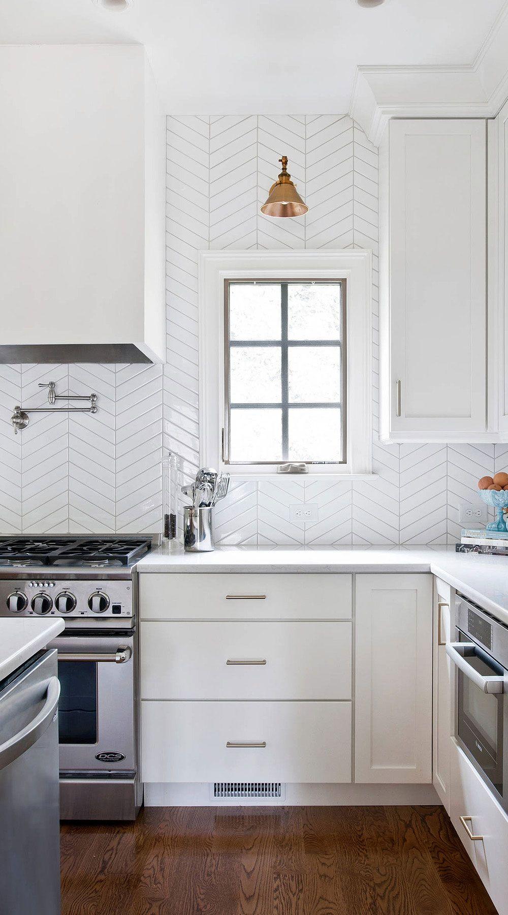 112 Chevron Backsplash Zig Zag Stunning Chevron Pattern Tiles In 2020 Chevron Kitchen Backsplash Kitchen White Cabinets Backsplash For White Cabinets