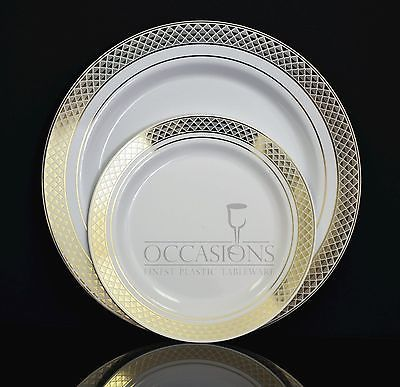 OCCASIONS   Wedding Disposable Plastic Party Plates u0026 Silverware set Combo & OCCASIONS