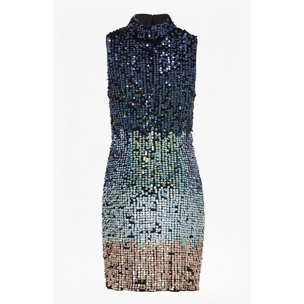 0b91256fb070 French Connection Cosmic Beam Sequin Dress ( 255) ❤ liked on Polyvore  featuring dresses