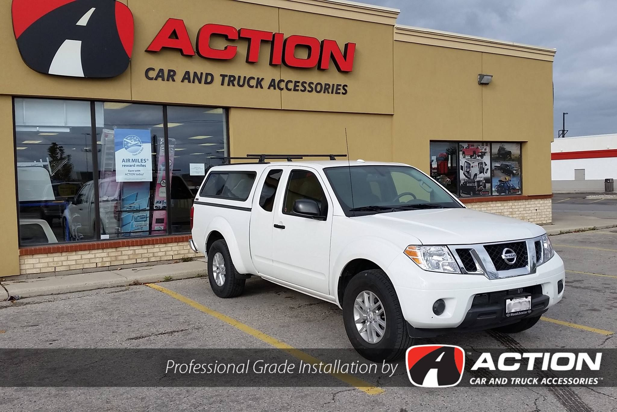 Contour III Series Cap With The Yakima Roof Rack Option Installed On This Nissan  Frontier By