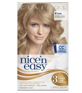 Clairol Nice N Easy Blonde Hair Dye Colours Box Neutral