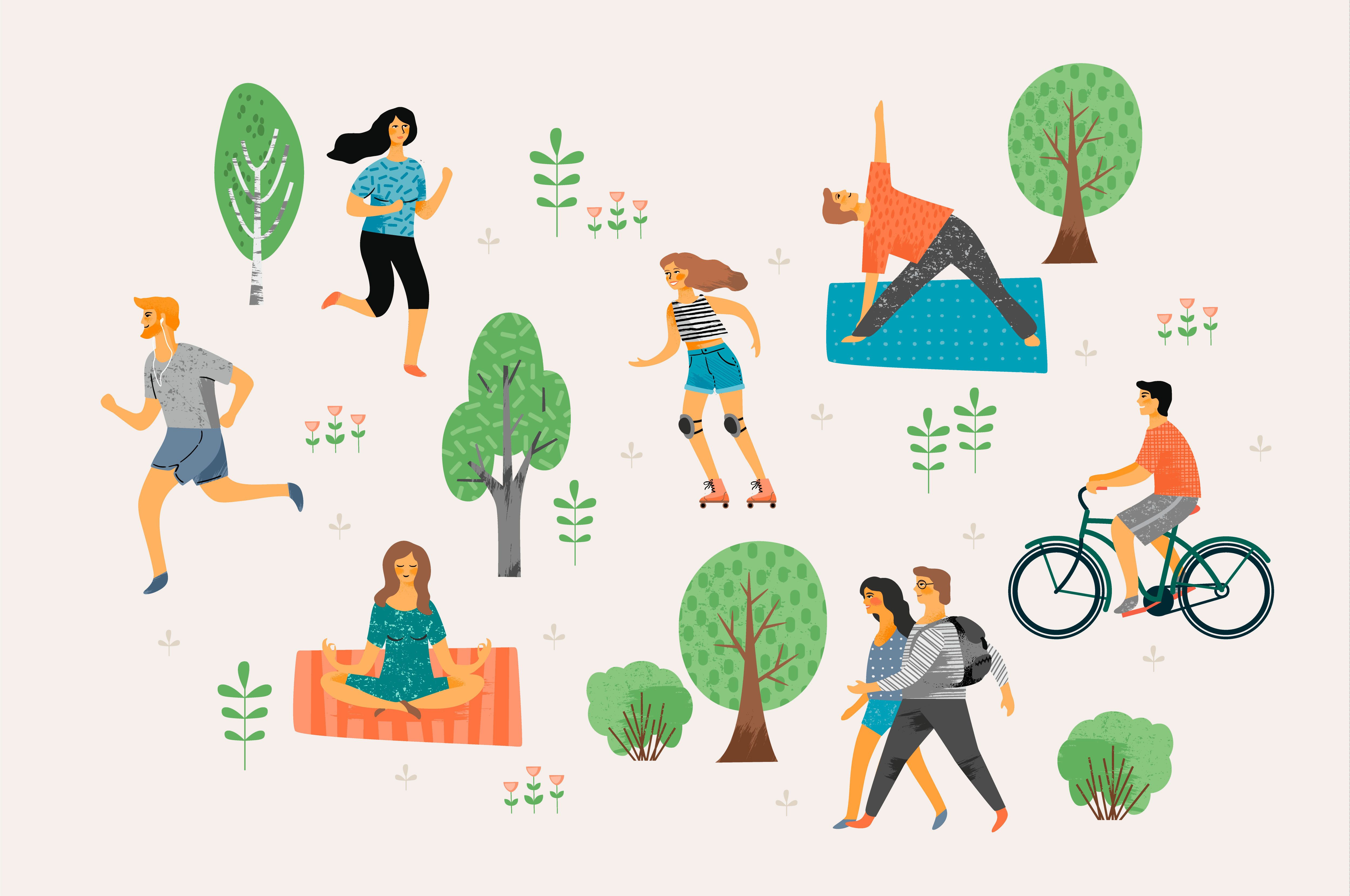 Fitness Inspiration from Nature Illustration, Design