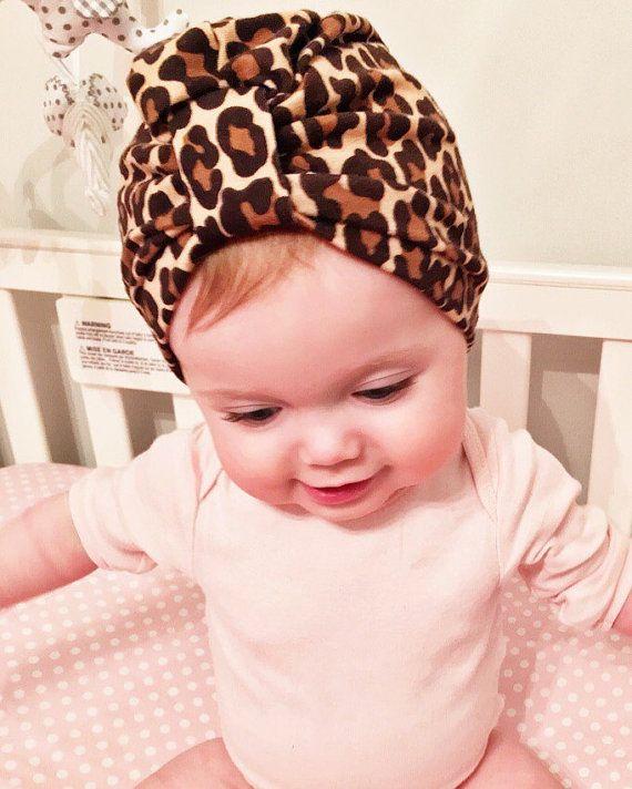 Wild Cheetah baby Turban hat - newborn hat - baby turban | BABY ...