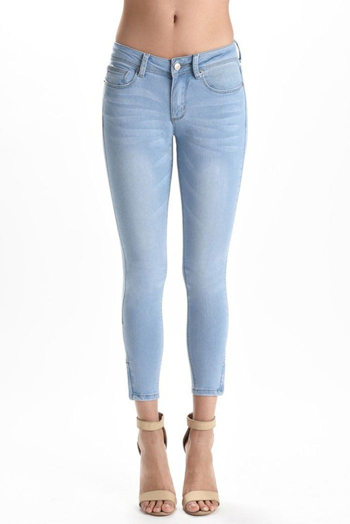 f71d9d8dbf45ab Holly Ankle Skinny Jeans : Light Blue – GOZON Boutique   Basics 2018 ...