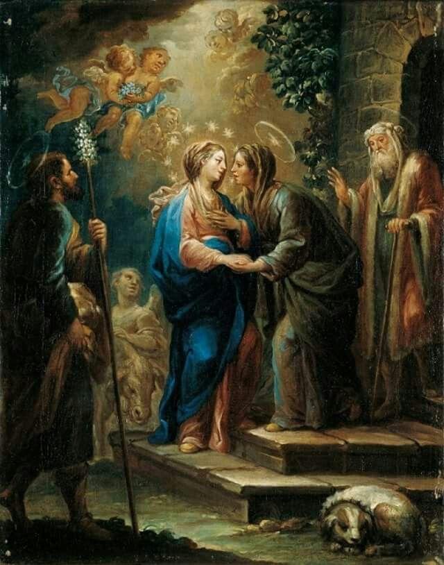 Visita de Maria a su prima Isabel.