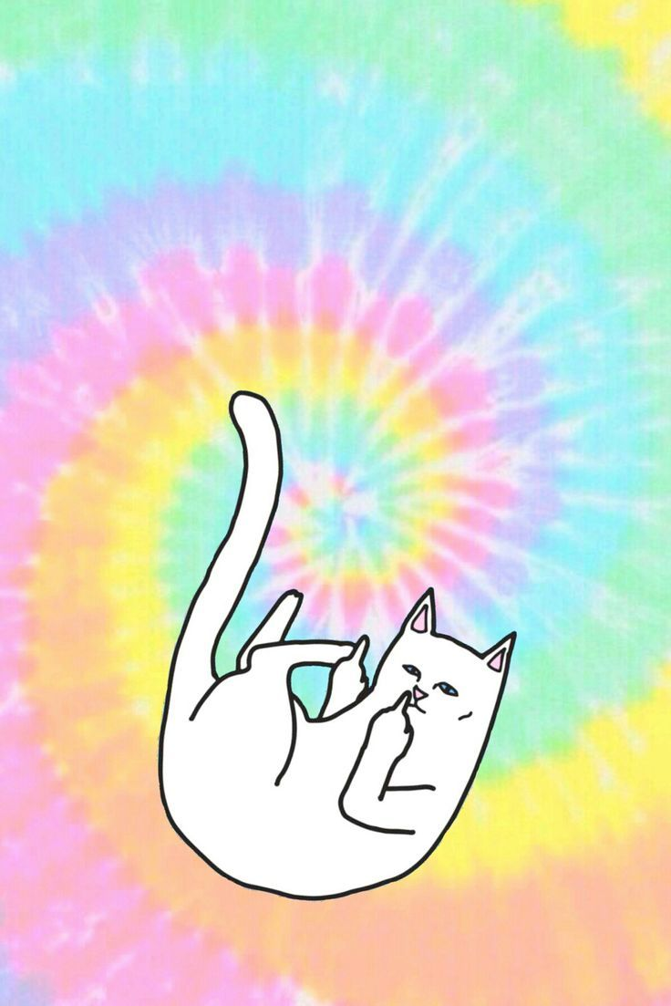 Tumblr tie dye iphone wallpaper - Ripndip Iphone Wallpaper Ripndip Middle Finger Cat Wallpaper Iphone