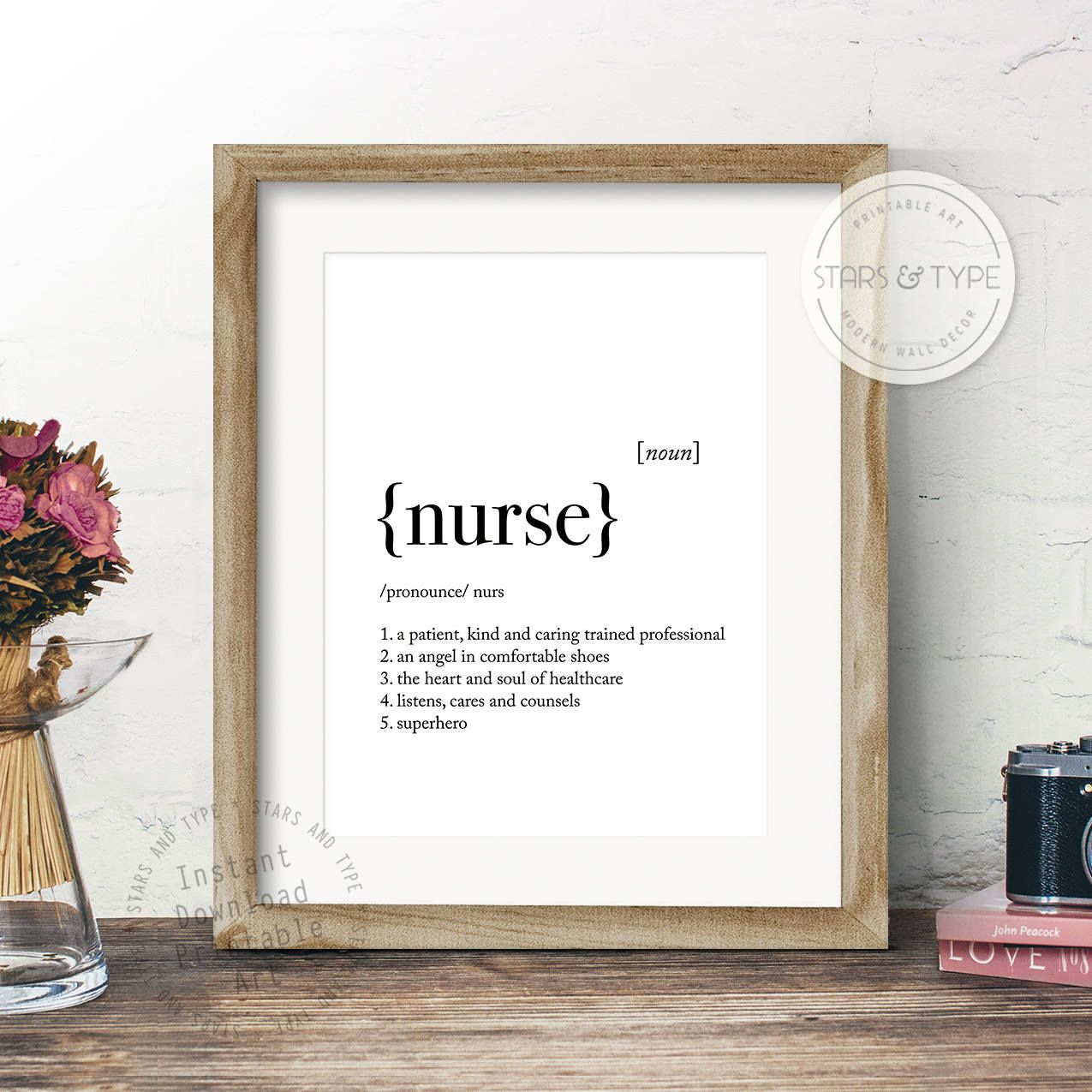 Nurse Definition, Dictionary Meaning, PRINTABLE Art