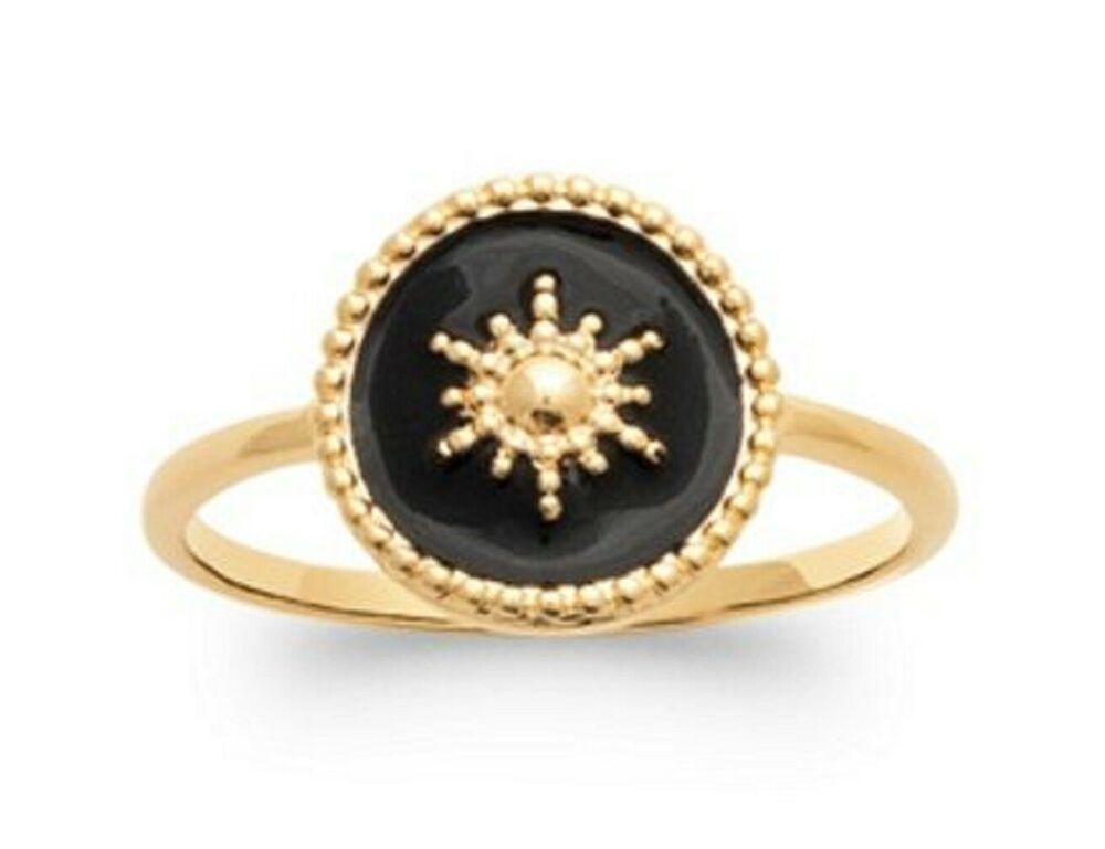 Bague Chevali/ère Cabochon Homme Femme Acier Inoxydable 316L Argent/é Noir Email BOBIJOO Jewelry