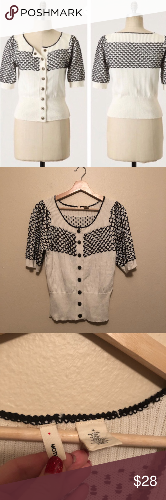 Anthropologie Moth Short Sleeve Cardigan Condition: Great