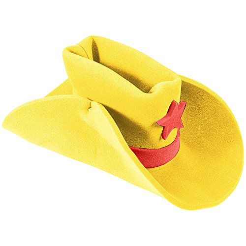20dd0ac3ce8 Huge Funny and Crazy Yellow Cowboy Hat Super Size Cowgirl ...