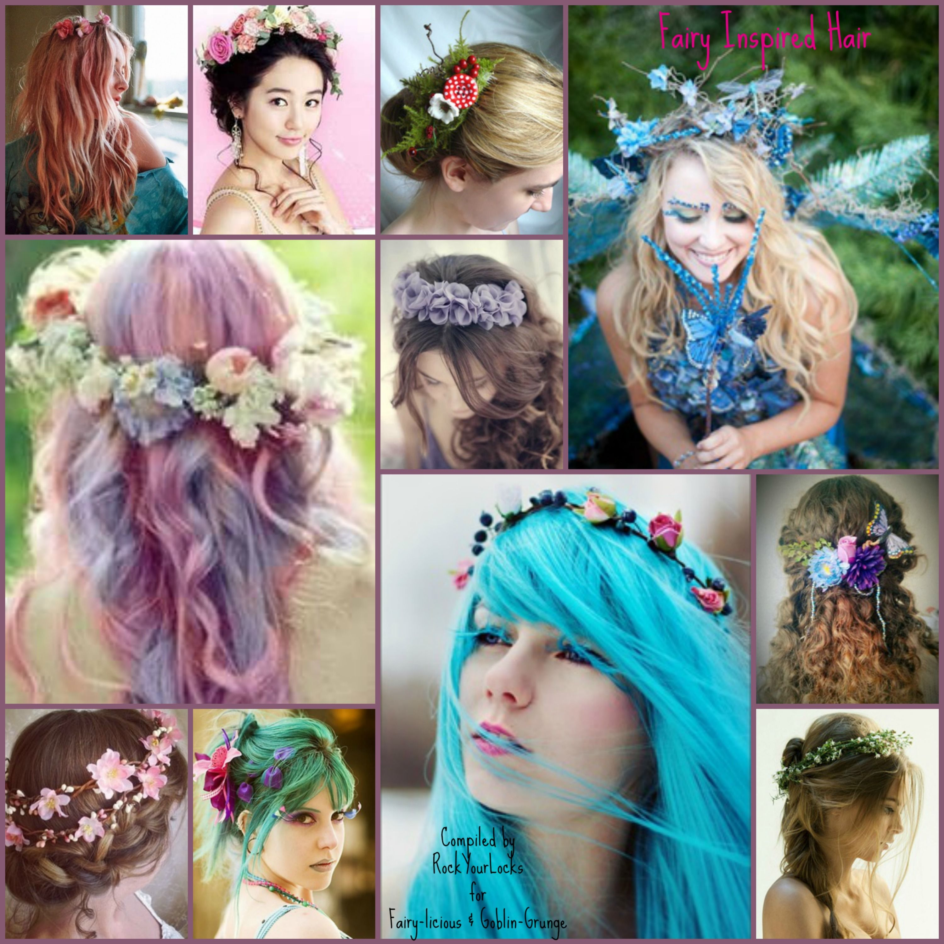 like the flower head bands. the colored hair is pretty too