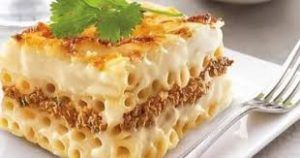 طريقة عمل صنية المكرونة بالبشاميل لحن الحياه Food Egyptian Food Recipes
