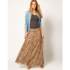 3338a33030 Pepe Jeans Genesi Floral Maxi Skirt