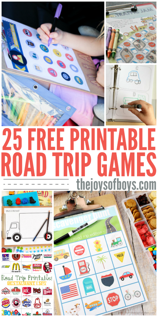 I'm so glad that I found these free printable road trip games!  We have a LONG road trip coming up and these will be perfect for entertaining the kids.  I love the travel bingo!