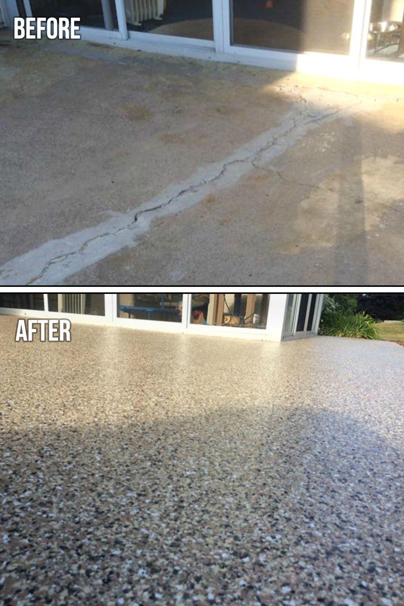 crack patio repair graniflex before after perfect