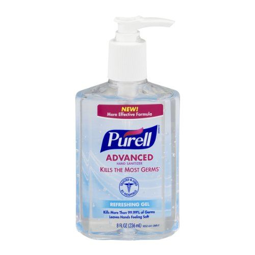 Purell Instant Hand Sanitizer With Moisturizers Vitamin E 8 Fz